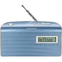 Grundig Music BS 7000 Dab+ Radio Portable Analogique et numérique Bleu, Argent - Radios Portables (Portable, Analogique et numérique, Dab,Dab+,FM, 9 cm, LCD, Bleu, Argent)