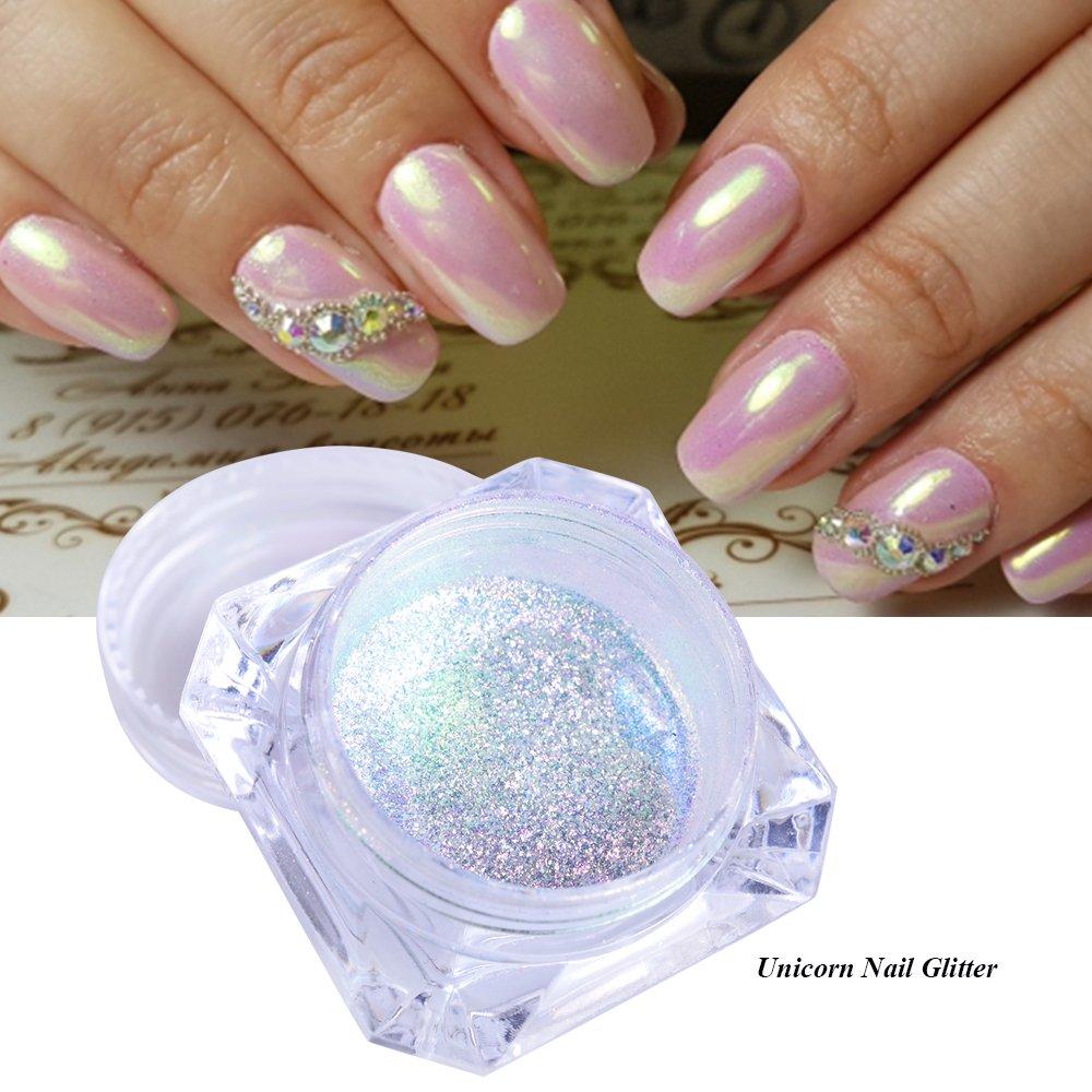 1 Box Neon Effect Holographic Powder Nail Art Rainbow Glitter Powder Chrome Pigment Diy Uv Gel Polish Nail Glitter Dust La354