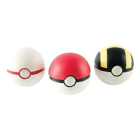 b1a20ea5 Amazon.com: Pokemon Throw 'N' Catch Poké Ball 3 Pack: Toys & Games