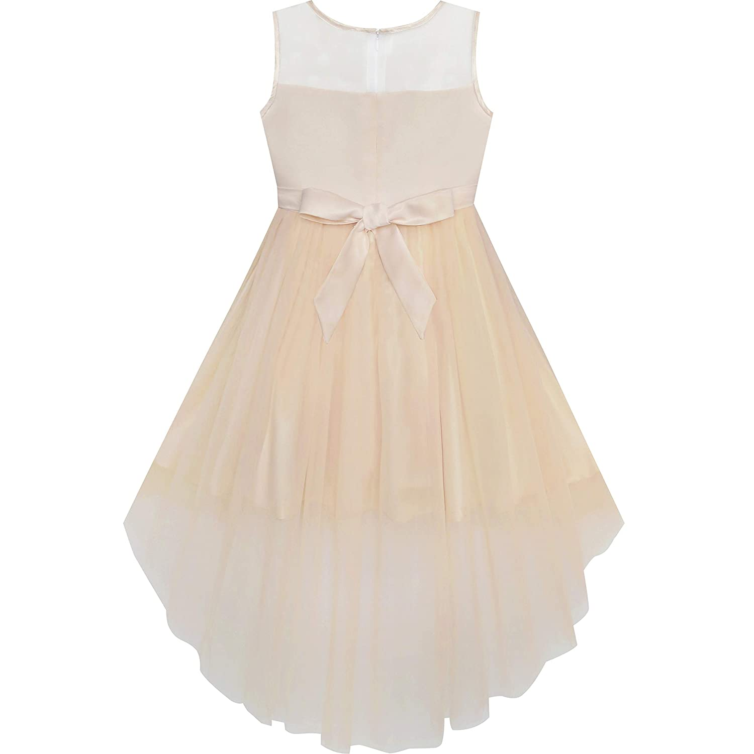 Sunny Fashion Girls Dress Sequin Mesh Party Wedding Princess Tulle Vestito Bambina