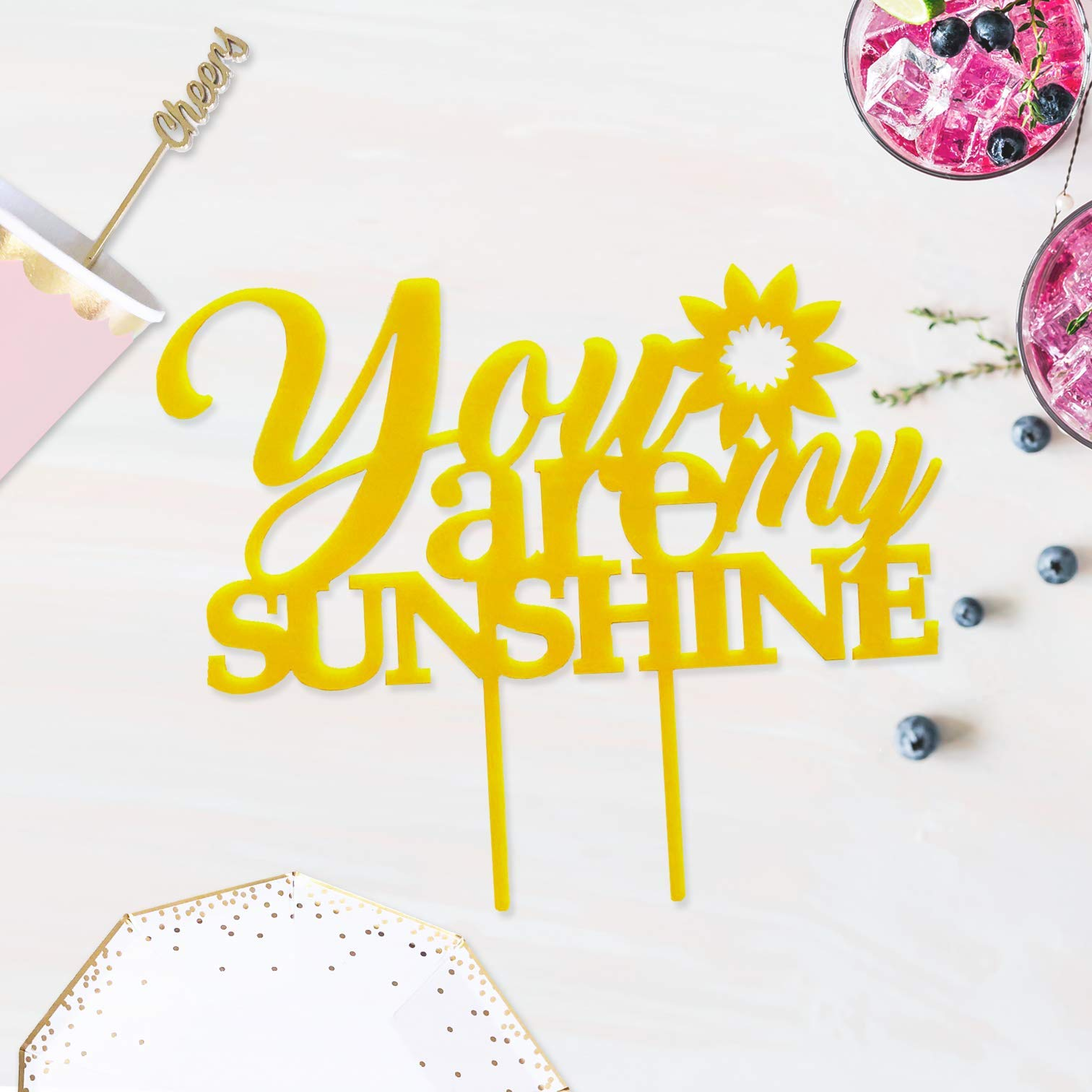 ACRYLIC You Are My Sunshine Cake Topper, Sunflower Baby Shower ...