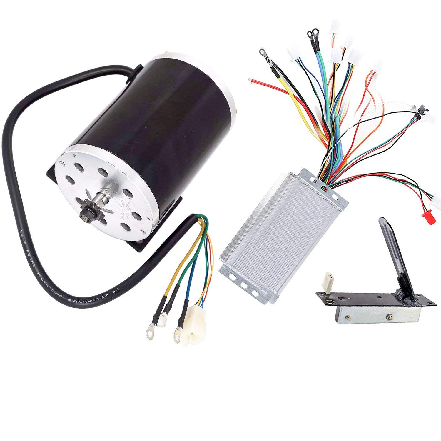 TDPRO 48V 1800W Brushless Electric Motor and Controller and Throttle  Accelerator Pedal Set For Go Kart Scooter E Bike Motorized Bicycle ATV  Moped Mini