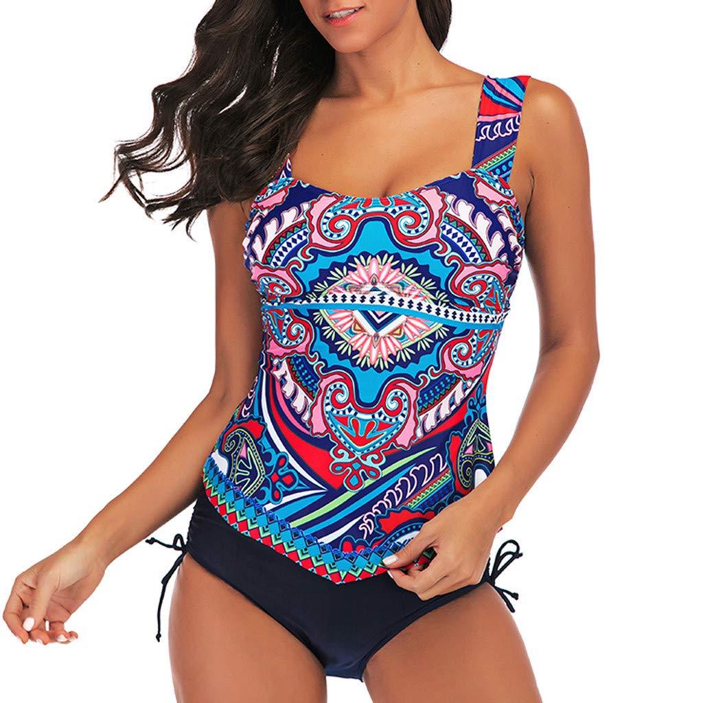 Onegirl Womens Swimsuit Conservative Cover Up Skirt Bathing Suit Two-Piece Bikini Set Plus Size Swimwear Beachwear