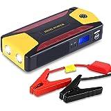 Avviatore per Auto 20000mAh, Yokkao® Jump Starter di Emergenza Portatile con 4 USB Torcia LED SOS Display LCD per Auto a Benzina e Diesel Smartphone Notebook