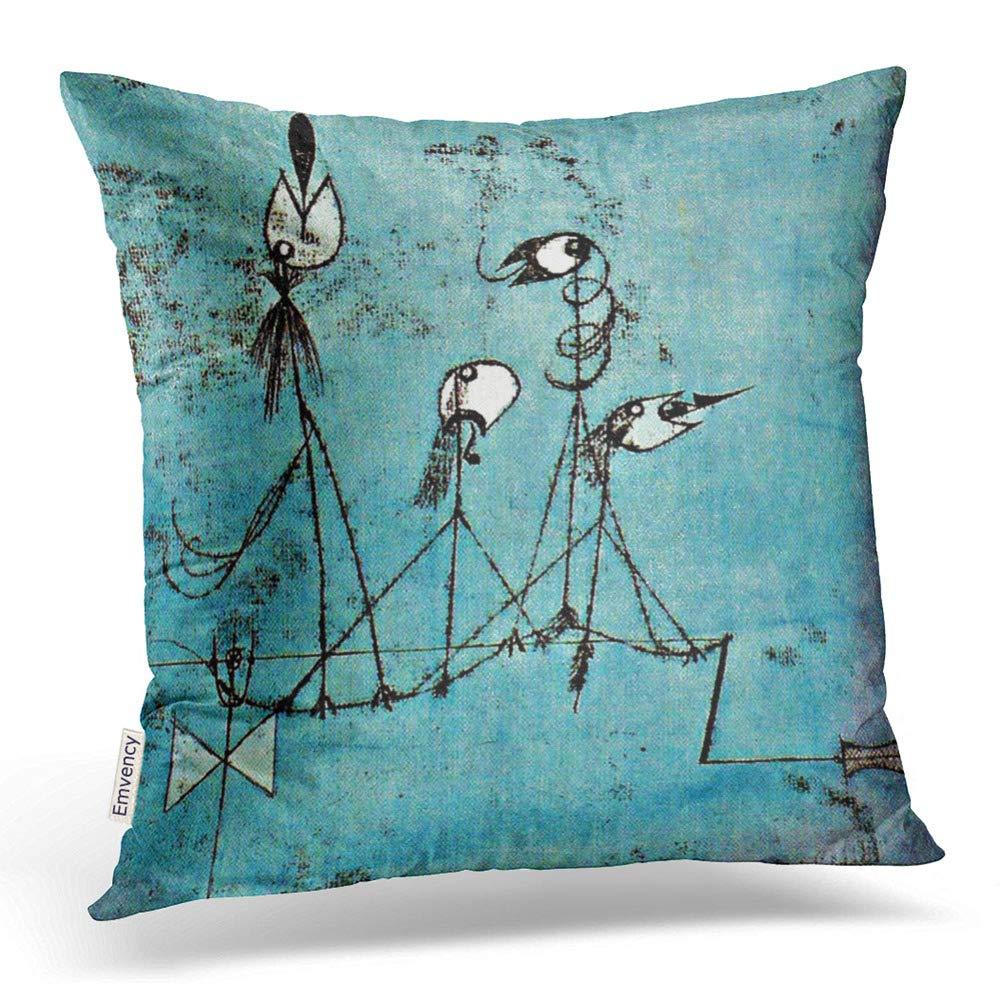 Twittering Machine >> Amazon Com Emvency Square 16x16 Inches Decorative Pillowcases Art