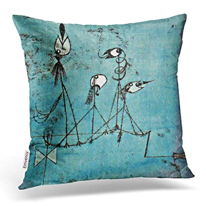 Twittering Machine >> Amazon Com Emvency Square 16x16 Inches Decorative Pillowcases Art