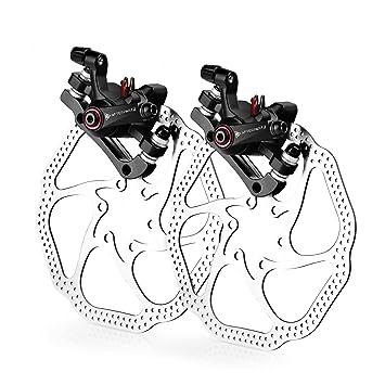afterpartz nv 5 fahrrad scheibenbremse satz mechanisch hs1 160mm scheibe v h schwarze sattel mit