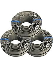 Tie Wire - (3X Rolls) of Premium Black Annealed 16 Gauge Tie Wire - 3 1/8lb - 16 GA - Rebar Tie Wire