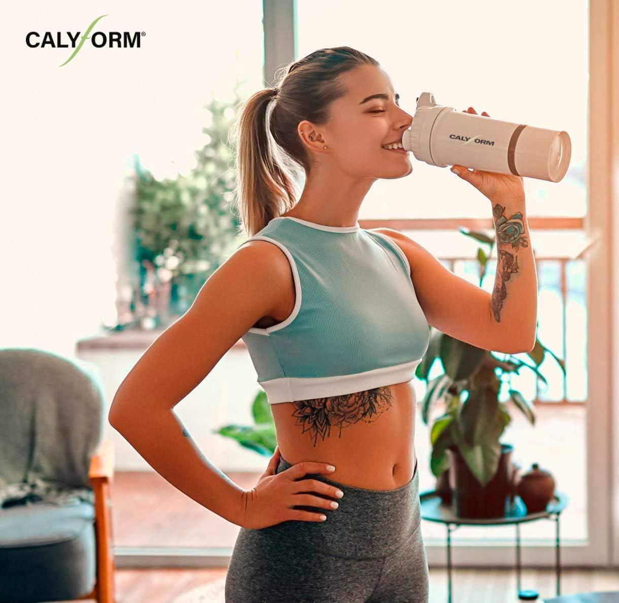 CALYFORM Batidos Proteínas para dieta sabor Cacao   Bebida proteica en polvo saciante   Proteína dietética de alta calidad y aporte en aminoácidos ...