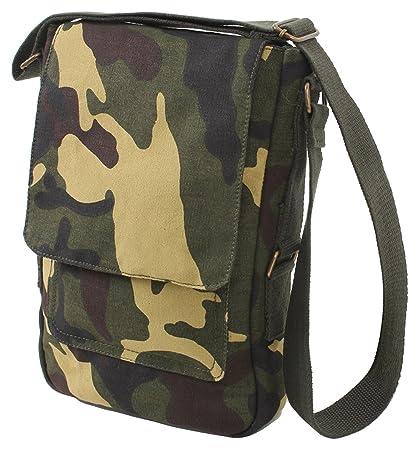 e0da46b7b9a2 Amazon.com  Rothco Vintage Canvas Military Tech Bag - Woodland Camo ...