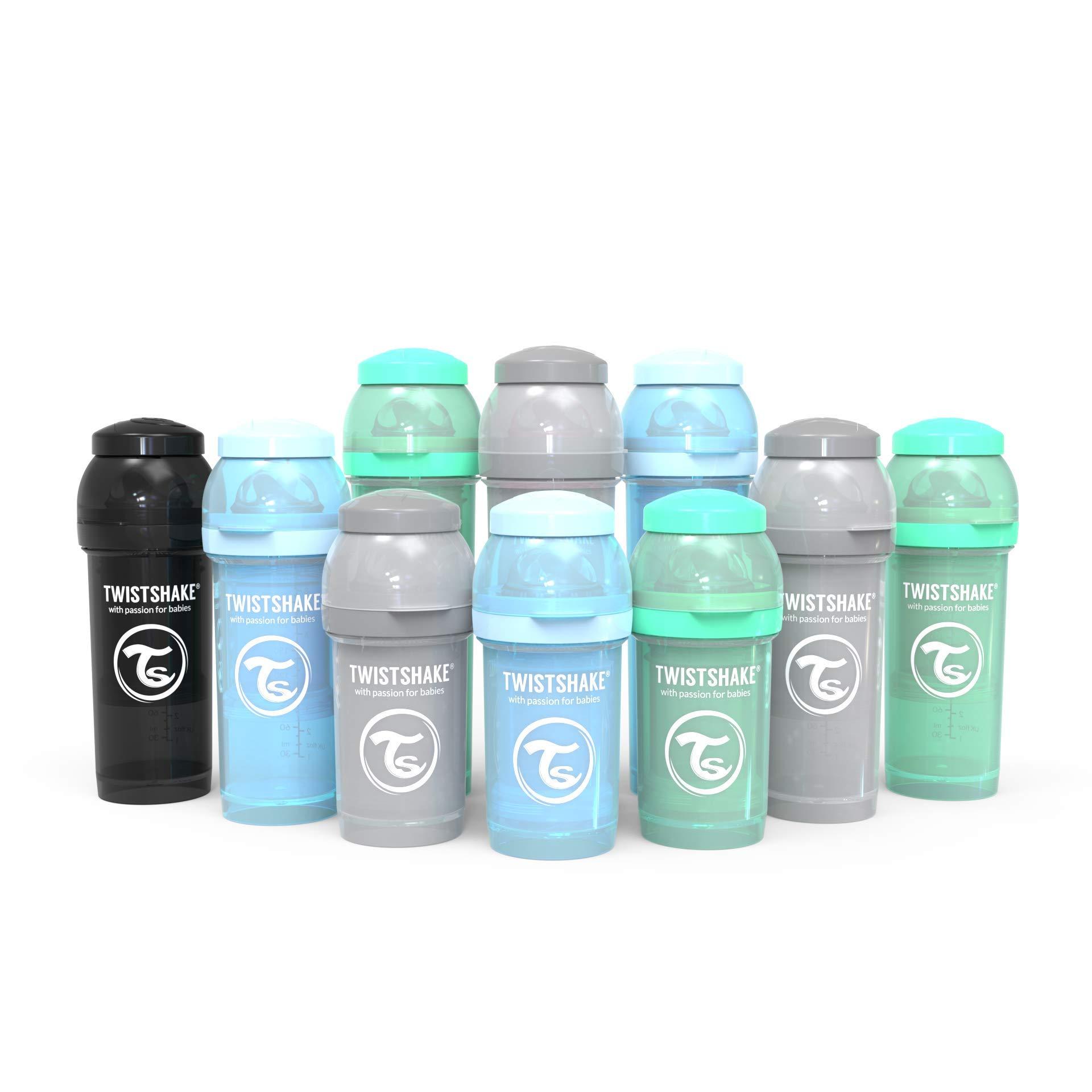 Twistshake Baby Bottle Bundle for Boys with (3) Anti-Colic 6oz, (4) Anti-Colic 8oz, (3) Anti-Colic 11oz