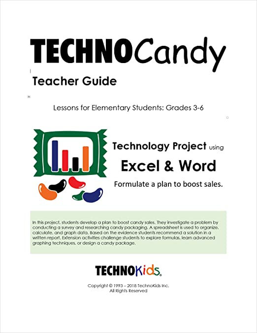 Amazon.com : TechnoCandy: Spreadsheet Curriculum Unit for Kids, Elementary Computer-Based Lessons for Google Sheets or Excel (Office 2016) : Office Products