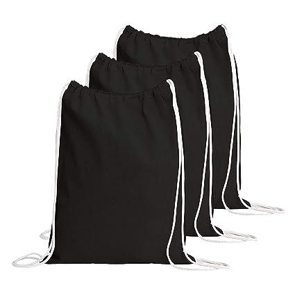 Amazon.com: TBF Bags Mochila de algodón con cordón, bolsa de ...