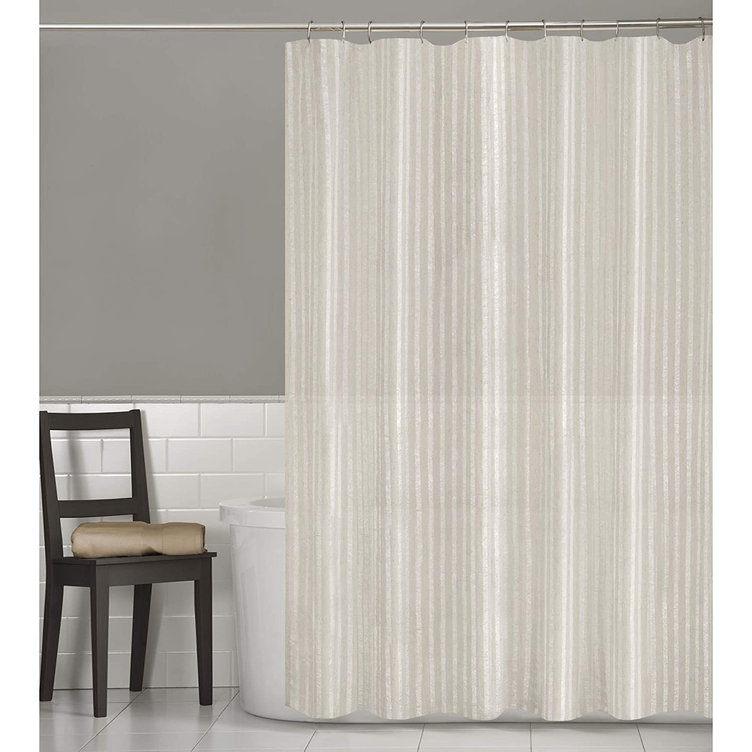 Amazon MAYTEX Mills Linen Stripe Shower Curtain Home Kitchen