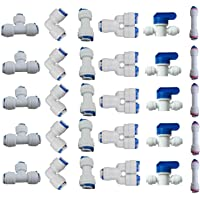 """Lemoy 1/4"""" OD Quick Connect Push In to Connect Water Tube Fitting for RO Reverse Osmosis Water Filter Fittings Pack of…"""