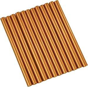 "GlueSticksDirect Copper Metallic Colored Glue Sticks Mini X 4"" 12 Sticks"