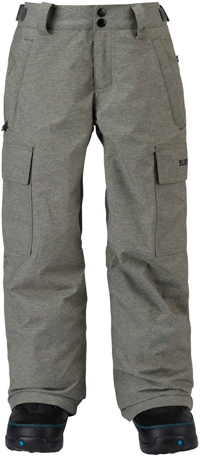 Burton Boys Exile Cargo Pants, Heathers, Large
