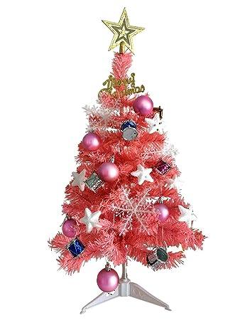 Pink Christmas Ornaments.Jiaju 2 Ft Christmas Tree Table Top Christmas Tree Pink Christmas Tree Blue Christmas Tree Decorated Purple Christmas Tree With Ornaments Sets