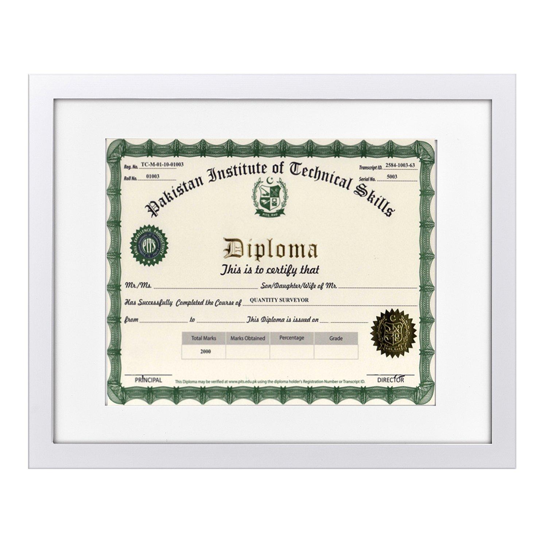 Innocheer 11 x 14 cuadro marco/Diploma marco madera maciza con ...