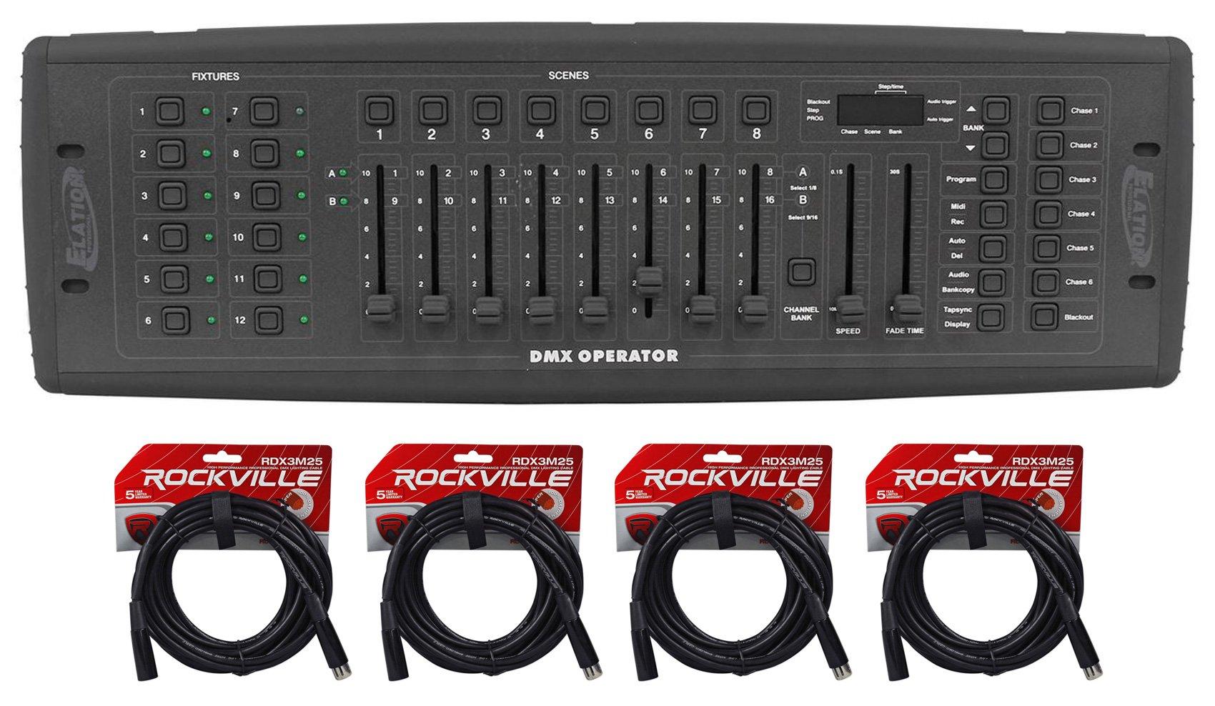 American DJ DMX Operator 192-Channel DJ MIDI Light Controller ADJ+(4) DMX Cables