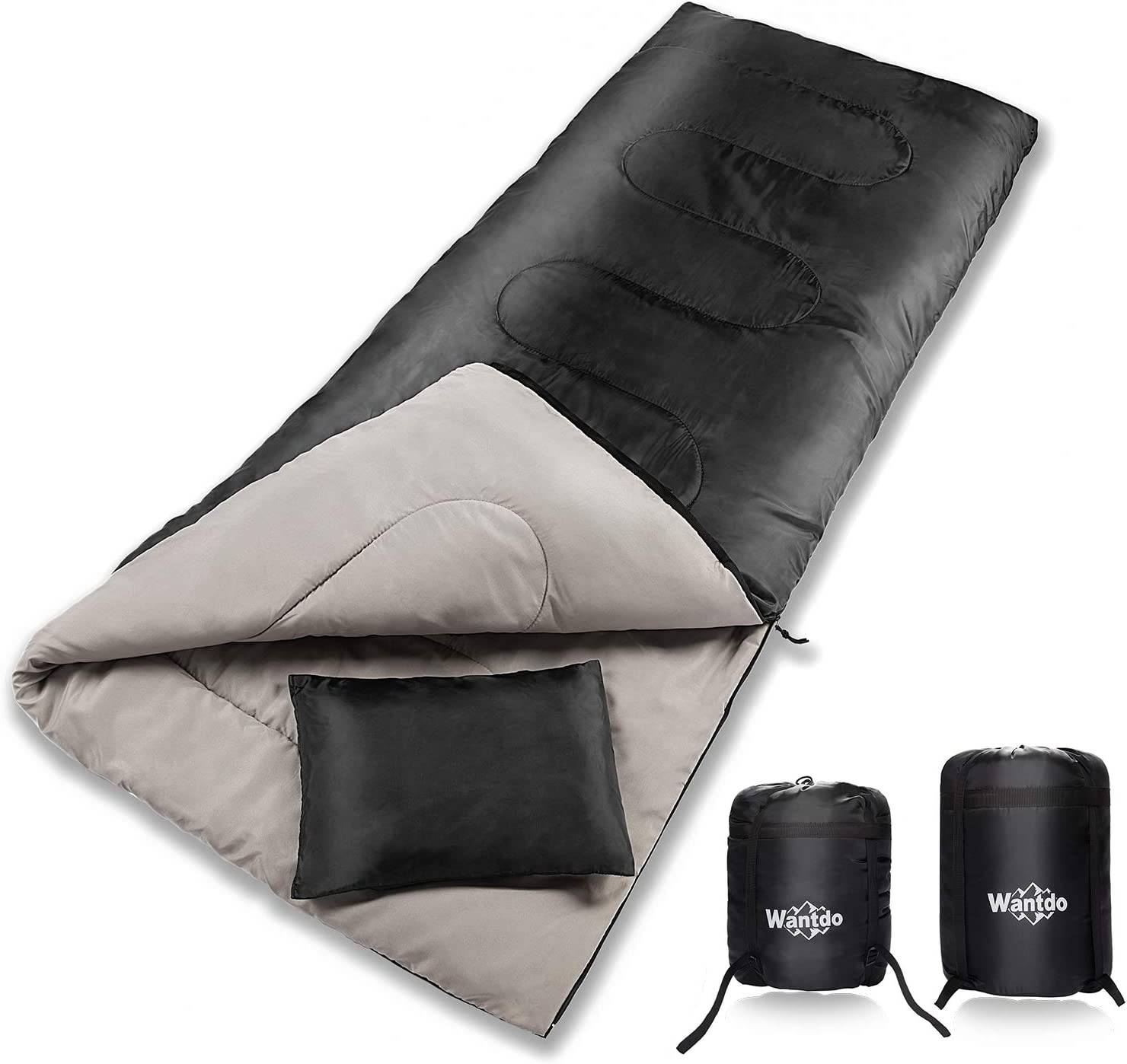 Wantdo Envelope Sleeping Bag Cold Weather 32 Fahrenheit Degree Camping Waterproof Indoor Outdoor Use, Portable Lightweight Great for Hiking Backpacking