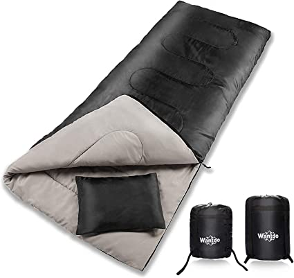 Amazon.com: Wantdo - Saco de dormir con sobre, impermeable ...