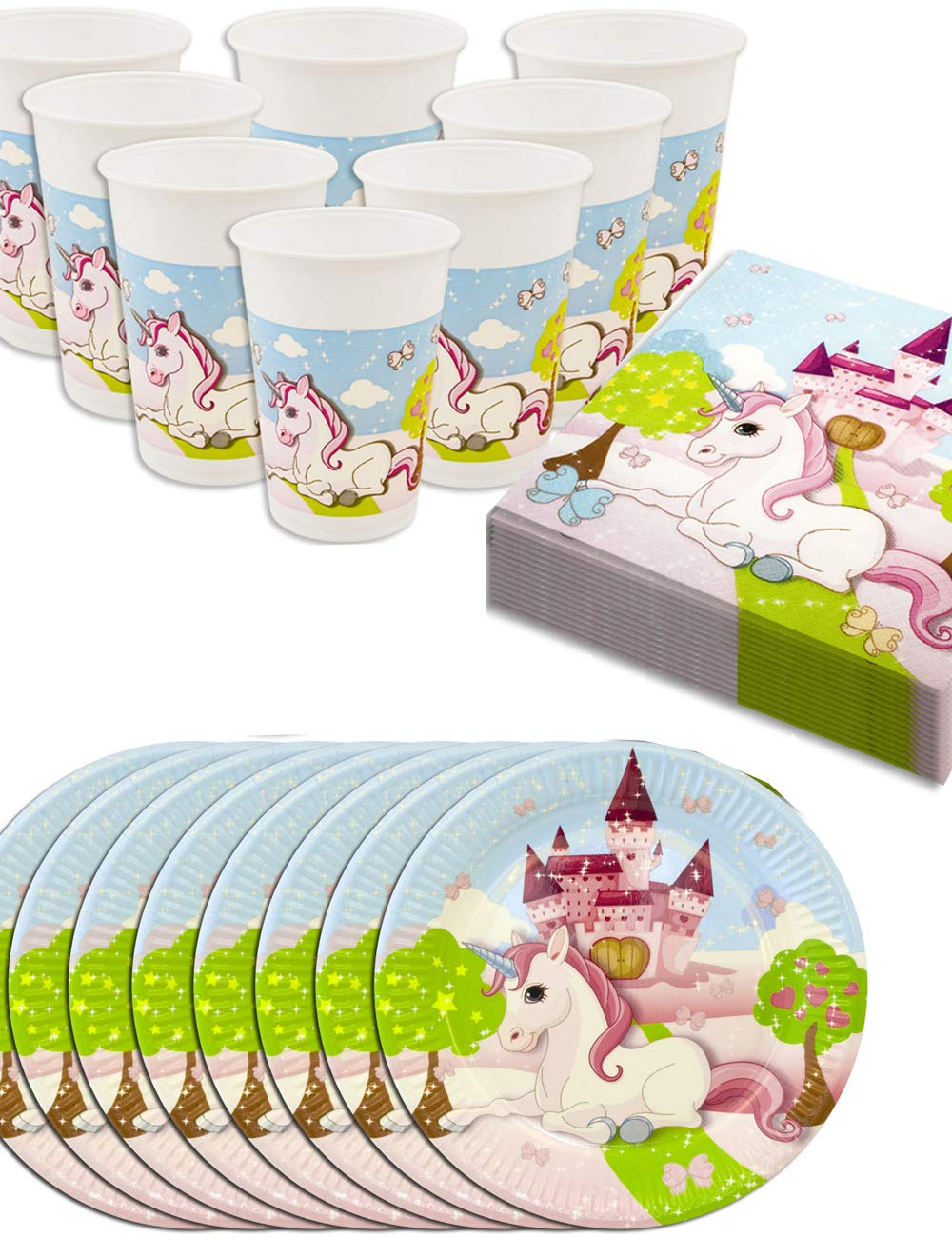 'Home Tools. UE® – Licorne Unicorn Party Set de vaisselle Castle | en carton