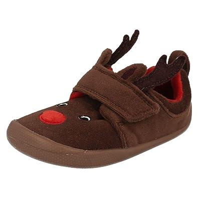cee5f50cca6a Clarks Girls Seasonal Shilo Jena Fst Textile Slippers In Brown Combi ...