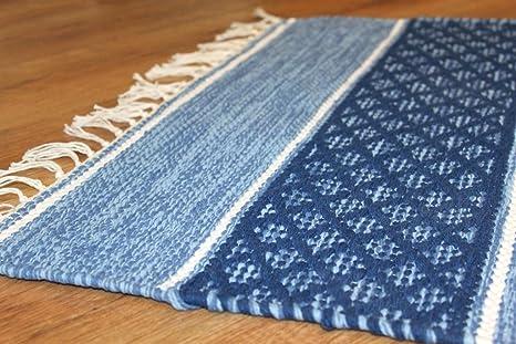 Flickenteppich blau  Flickenteppich - Visby (Blau) (135_x_190_cm): Amazon.de: Küche ...
