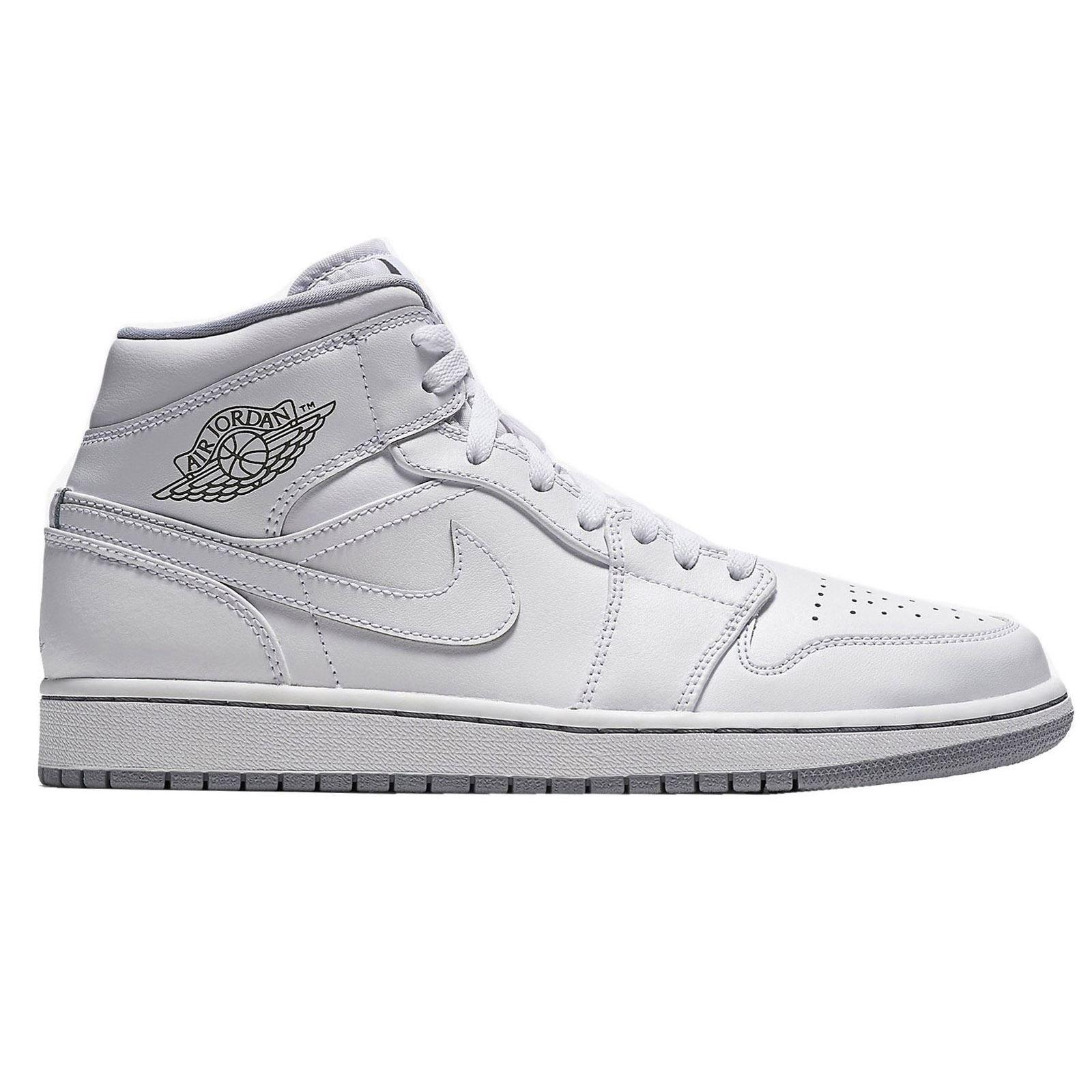 Nike Air Jordan I Mid - 554725112 - Color White - Size: 4.5