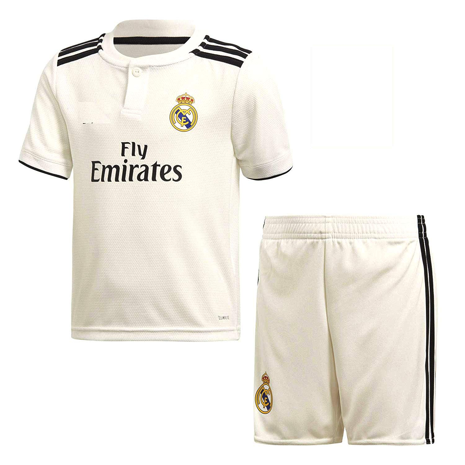 buy popular 3c695 c27e5 Real Madrid Home 2018-2019 Jersey kit for Adults - T Shirt and Shorts  Jersey Set