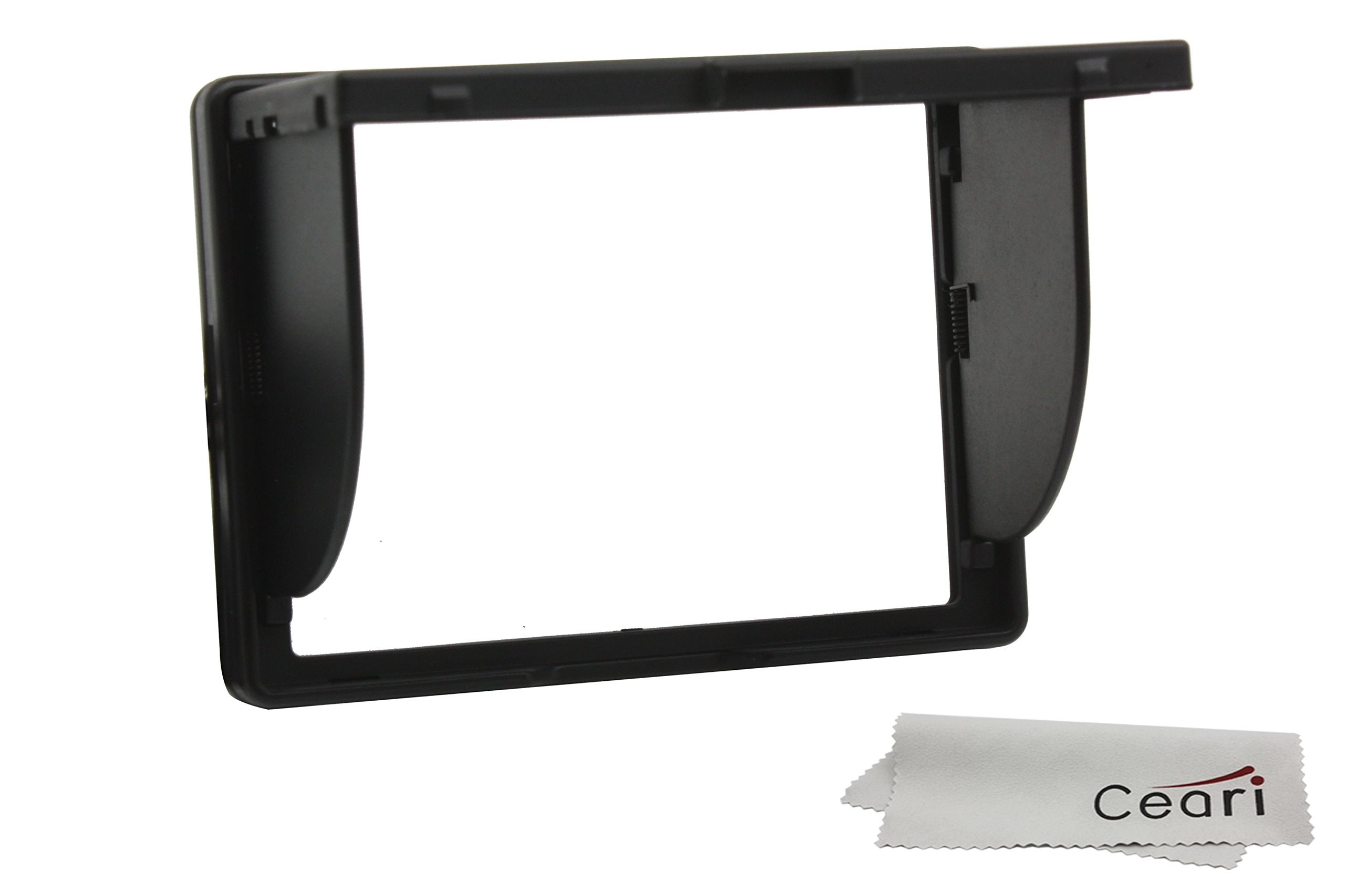 CEARI Universal 3'' LCD Screen Pop up Hood for Canon EOS 450D 500D 550D 600D 650D 700D 750D 760D 100D 60D 70D Digital Camera + MicroFiber Clean Cloth