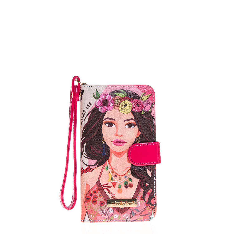 4db1838ee Nicole Lee Funda Universal para celular DIVSHA estilo cartera con  compartimentos para tarjetas y correa para muñeca: Amazon.com.mx: Ropa, ...