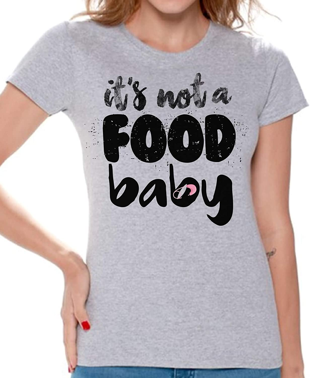 Awkward Styles It's Not a Food Baby Tshirt for Women I'm Pregnant Shirts Pregnancy Shirt
