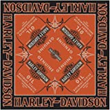 Harley-Davidson Men's Genuine Oil Bar & Shield Bandana, 24 x 24 inch BA21264