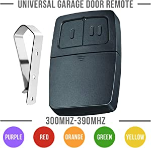 Universal Garage Door Remote Control Replacement for Liftmaster Chamberlain 375UT 371LM 373LM 375LM 971LM 973LM 893MAX KLIK1U Craftsman HBW2028, 315MHz - 390MHz, Intellicode Multicode Linear 3089