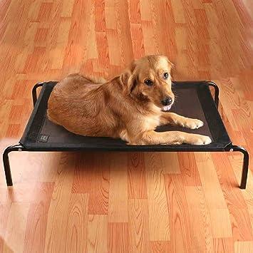 Demolición desmontable del cama de animal cama de PVC Camiseta huecas de hierro negro (tamaño: L.): Amazon.es: Productos para mascotas
