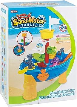 III 8810 - Mesa de juegos con arena y agua, barco pirata con muchos accesorios, a partir de 18 meses, aprox. 46 x 32 x 14 cm, 24 piezas, multicolor , color/modelo surtido: Amazon.es: Juguetes y juegos