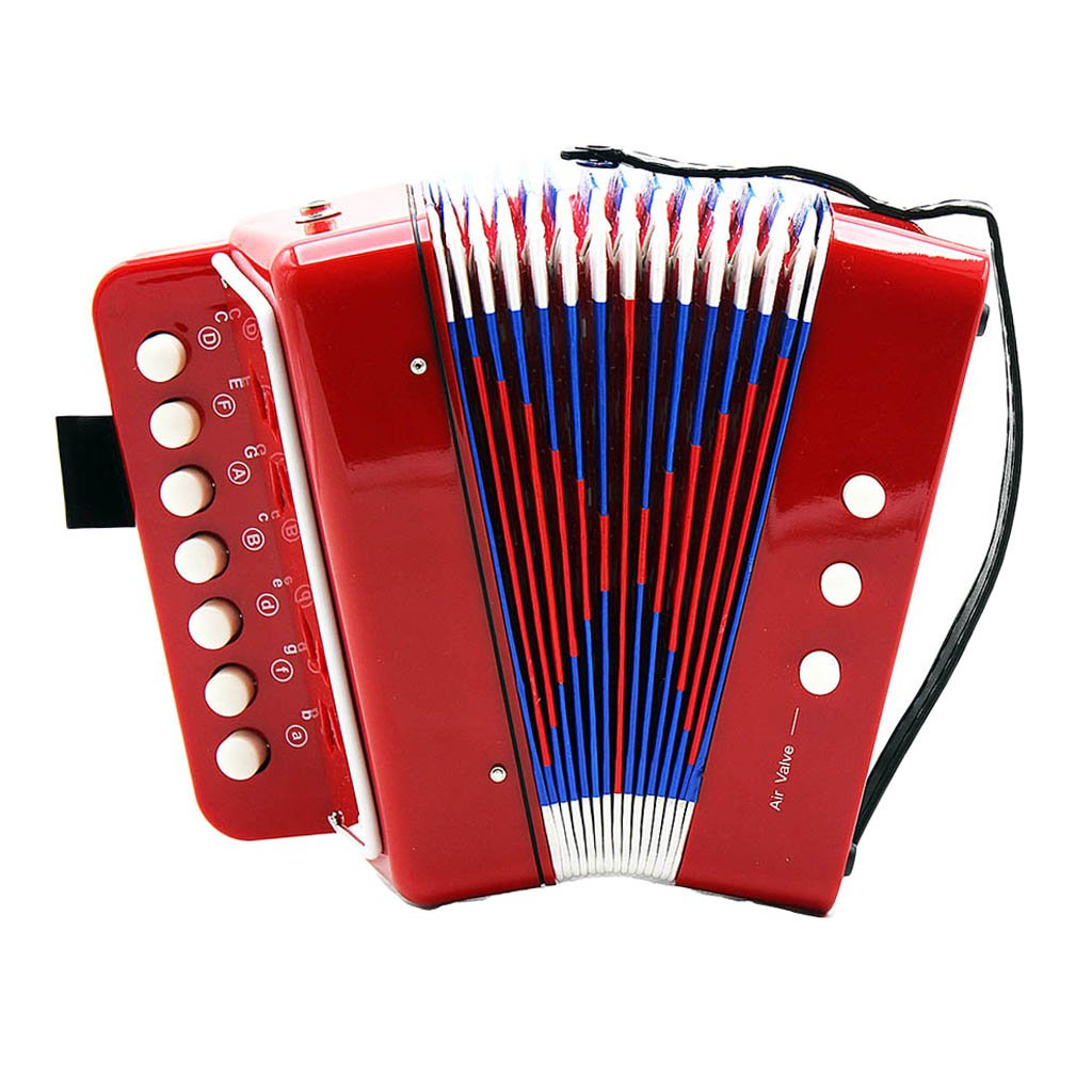 MonkeyJack Kids Accordion Music Toy Early Learning Eduction Instrument Xmas Gift Red