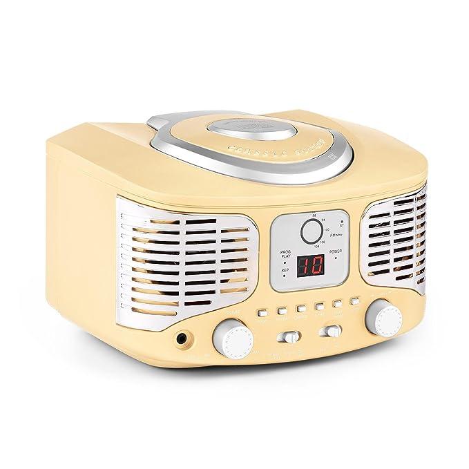 6 opinioni per auna RCD320 Stereo Hi Fi compatto stile anni 50 vintage look (lettore CD, radio