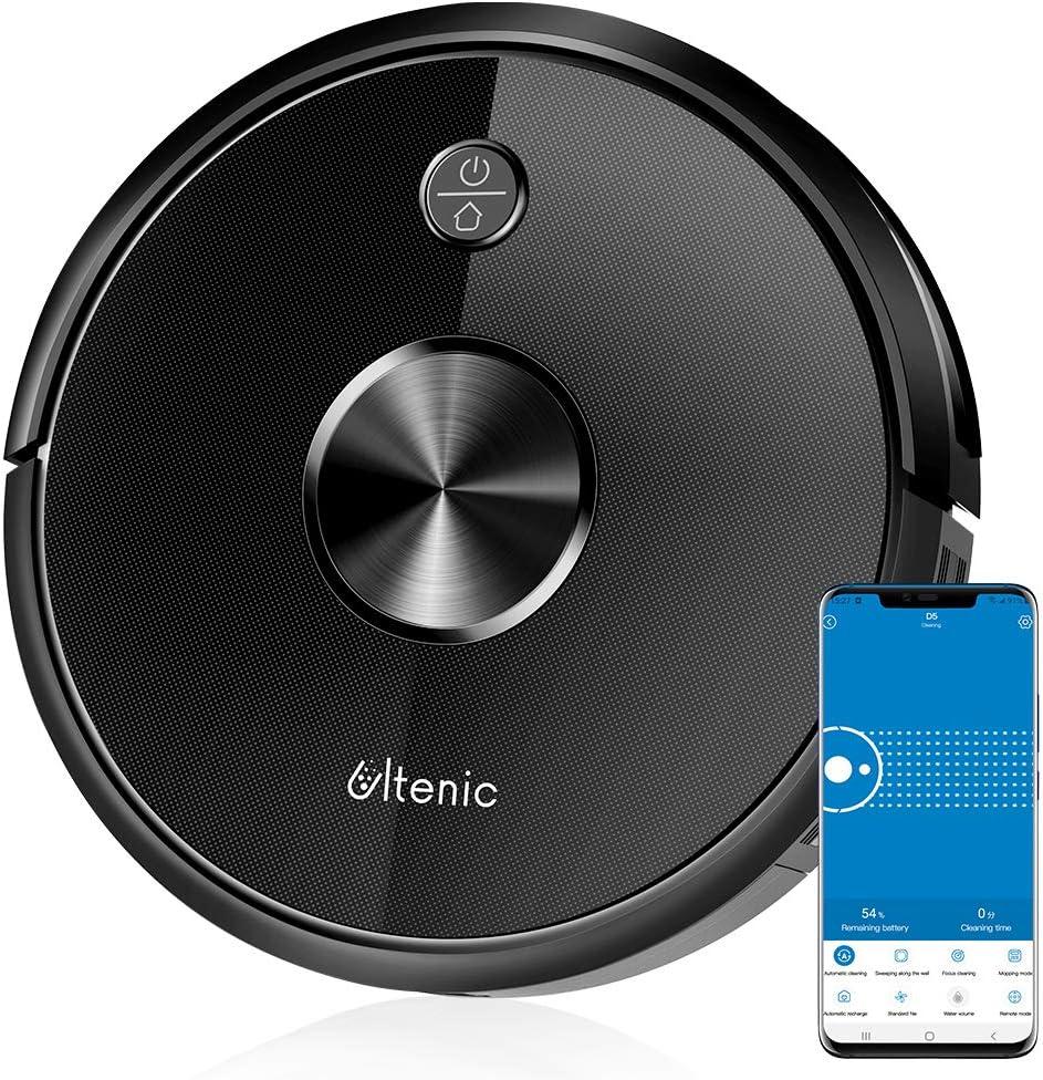 Ultenic Aspirateur Robot D5s, Connecté Wi-FI et Alexa, Nettoyage Efficace sur Programmation,...