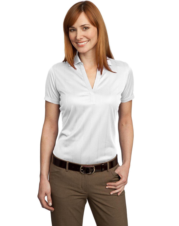 Port Authority Ladies Performance Fine Jacquard Polo. L528 White S
