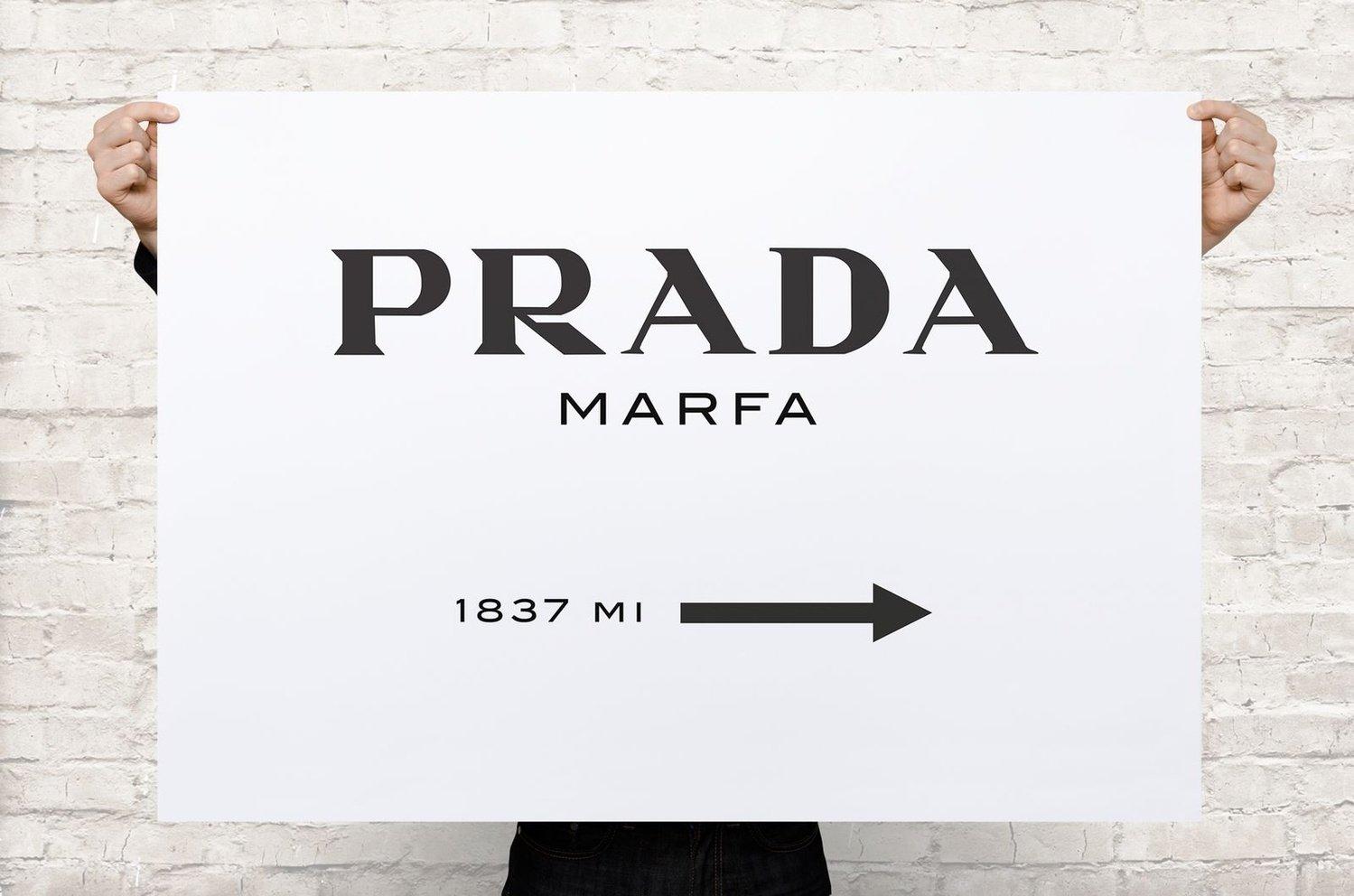PRADA/プラダ MARFA ゴシップガール キャンバス アート ポスター ブランド パロディ canvas-p-0001 (Mサイズ) B00QJS12CC Mサイズ Mサイズ