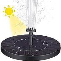 VITCOCO Fuente Solar con Bateria, 2.5 W Flotante Kit Bomba Agua Sumergible Solar, Fuente Solar para Jardin, Estanque, Pajaros