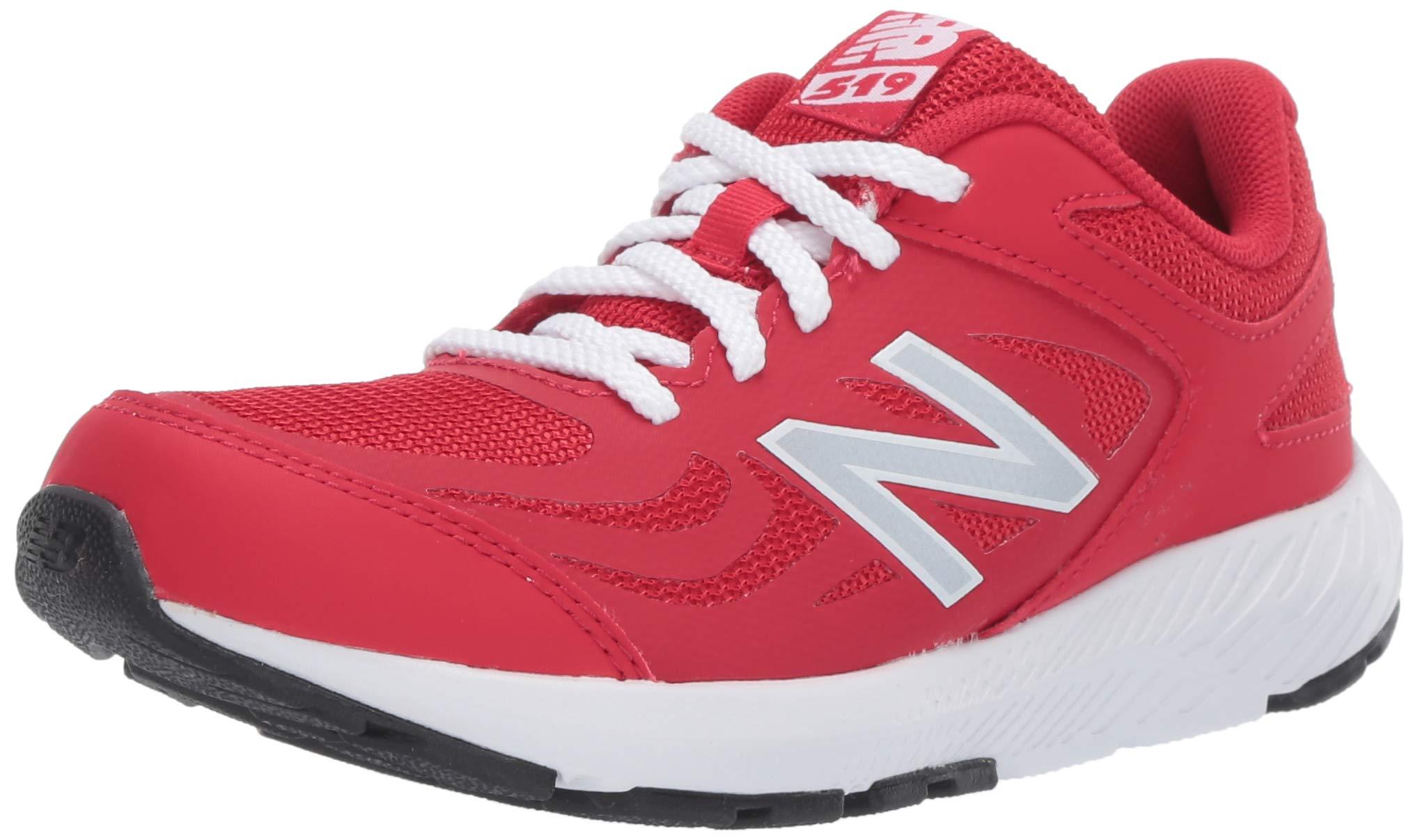 New Balance Boys' 519v1 Running Shoe, TEAM RED, 5M