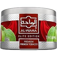 Al Waha Elite Edition Shisha Molasses Premium Flavors 200g for Hookah (Two Apple/Double Apple)