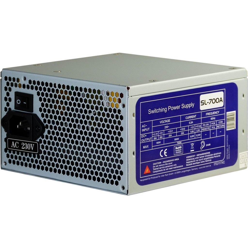 700W ATX silent PC Computer Netzteil mit 120mm L/üfter 2x PCIe 4x S-ata