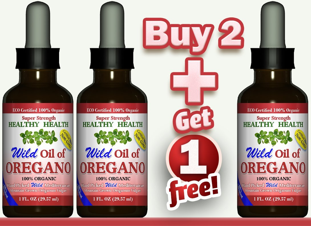 Buy 2 Get 1 Free''Super Strength'' 85% Carvacrol Wild Mediterranean Turkish 100% Eco Certified Organic Oil of Oregano
