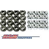 New Rocker Arm Grooved Pivot Ball & Lock Nut Set Chevy sb 400 350 327 305 283 (Pivot Ball & Lock Nut)