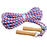 KUKOME Wooden Handle Skipping Rope/Jumping Ropes - Great for Gym, School, Group Jumping 10m